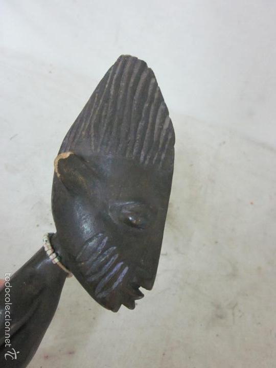 Arte: Antigua escultura de madera tallada africana, muñeca yoruba ibeji de nigeria, africa - Foto 4 - 62041544