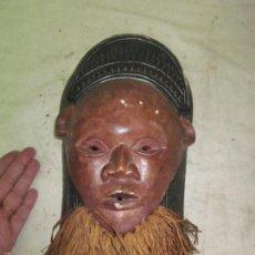 Arte: ANTIGUA MASCARA DE CERAMICA AFRICANA, ORIGINAL, AFRICA. Lote 62045816