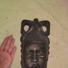 Arte: ANTIGUA MASCARA DE MADERA TALLADA AFRICANA, ORIGINAL, AFRICA. Lote 62469472