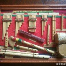 Arte: CUADRO INSTRUMENTOS DE BOLIVIA MADERA MUSICA DECORACION. Lote 63005888