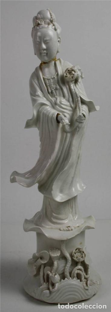 MUJER ORIENTAL. PORCELANA BLANCA. CHINA. SIGLO XIX-XX (Arte - Étnico - Asia)
