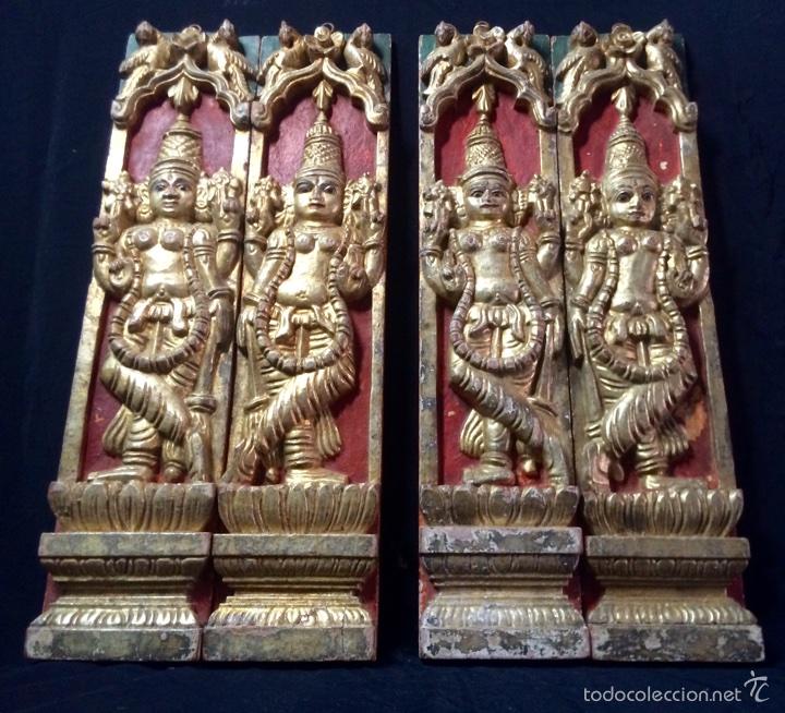 TALLAS EN ALTORELIEVE ORIENTALES, PRINCIPIOS SIGLO XX. (Arte - Étnico - Asia)