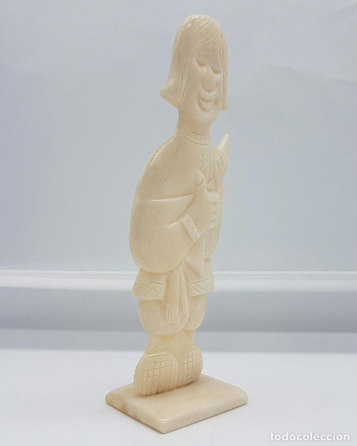 Arte: Escultura antigua de musico Ruso en marfil tallado y pulido a mano . - Foto 4 - 68362377
