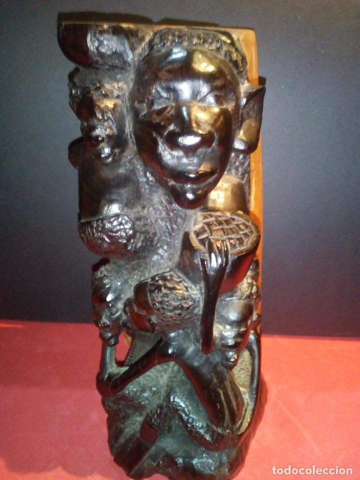TALLA EN ÉBANO TRIBU MAKONDE (Arte - Étnico - África)