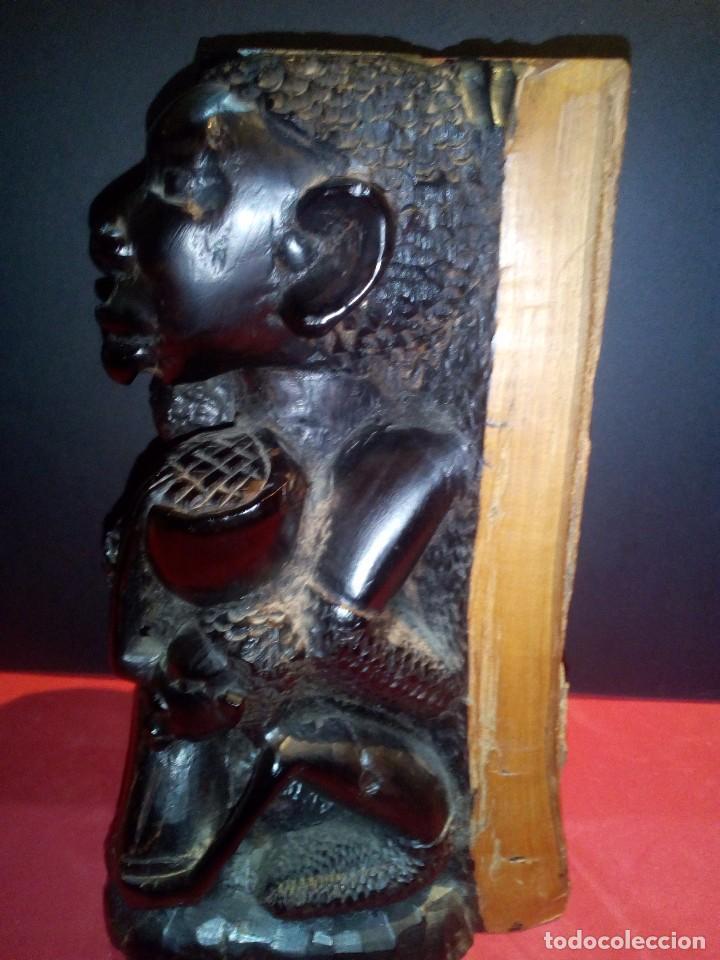 Arte: Talla en Ébano Tribu Makonde - Foto 2 - 69418969