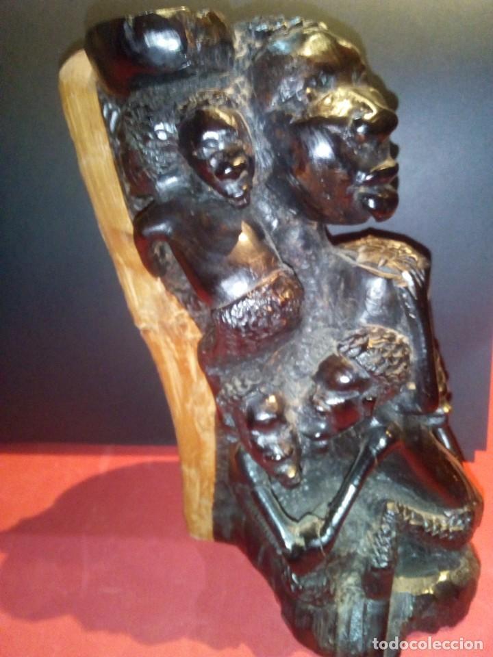 Arte: Talla en Ébano Tribu Makonde - Foto 3 - 69418969
