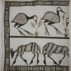 Arte: TELA AFRICANA (88 X 95 CMS). Lote 69689589
