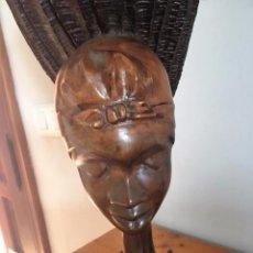 Arte: ELEGANTE TALLA DE MADERA AFRICANA. ELEGANT AFRICAN WOODEN CARVING.. Lote 72031703