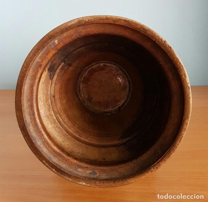 Arte: Antiguo jarrón Japonés en bronce macizo, con aves en relieve y bellos motivos tradicionales , 45 CM - Foto 11 - 73509071