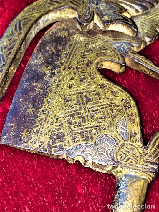 Arte: CASCANUECES PARA BETEL. HIERRO CON INCRUSTACIONES. PLATA. INDIA. XIX - Foto 6 - 74700127