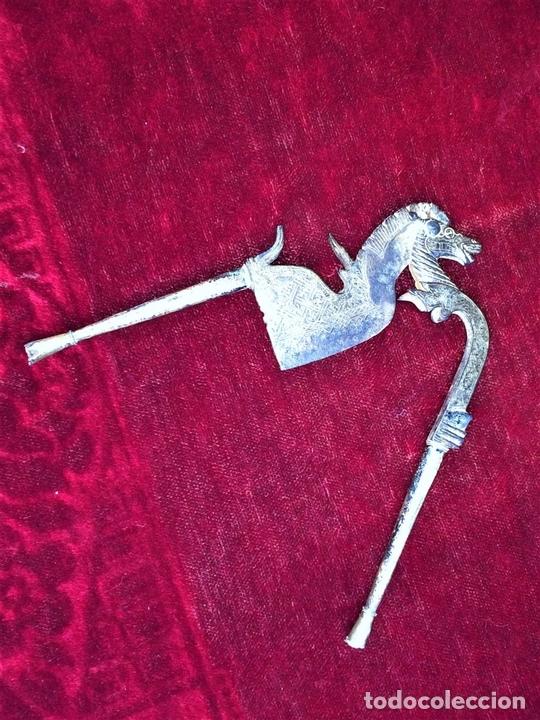 Arte: CASCANUECES PARA BETEL. HIERRO CON INCRUSTACIONES. PLATA. INDIA. XIX - Foto 9 - 74700127