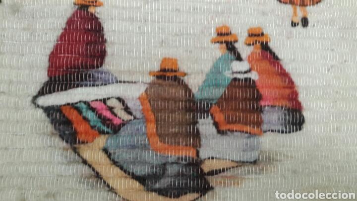 Arte: CUADRO HECHO A MANO LANA DE LLAMA 105 X 105CM - Foto 3 - 75513814