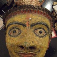 Arte: ANTIGUA MASCARA - MAHARASTRA INDIA - GRAN TAMAÑO. Lote 75729211