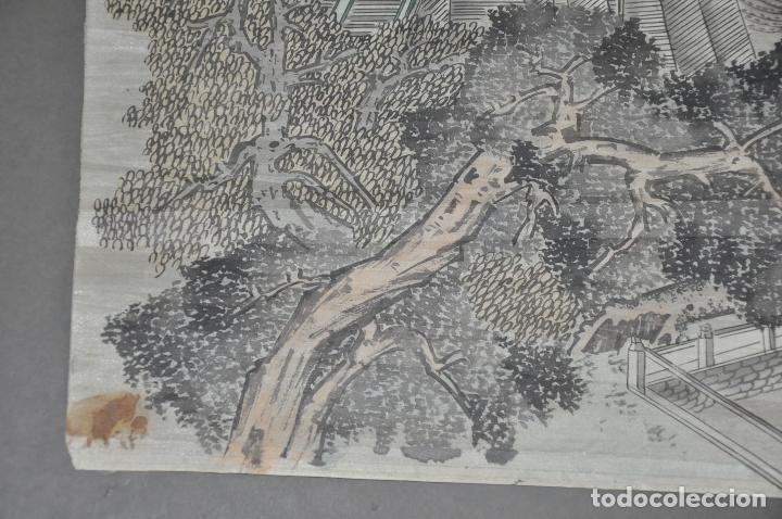 Arte: PINTURA ORIGINAL CHINA SOBRE SEDA , ACUARELA - Foto 6 - 76511899