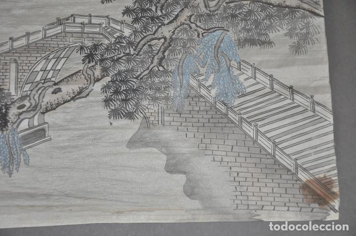 Arte: PINTURA ORIGINAL CHINA SOBRE SEDA , ACUARELA - Foto 7 - 76511899
