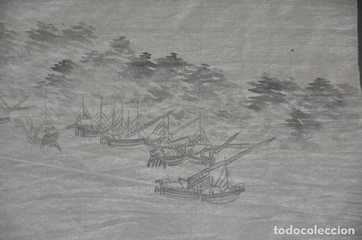 Arte: PINTURA ORIGINAL CHINA SOBRE SEDA , ACUARELA - Foto 8 - 76511899