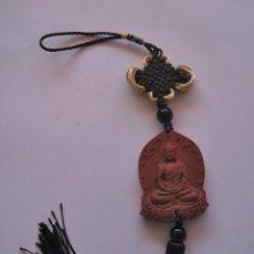 Arte: TIBET COLGANTE TALLADO EN MADERA BUDDHA BUDA , IDEAL COCHE O VENTANAS. Lote 76938729