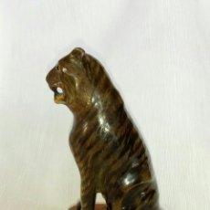 Arte: FIGURA TIGRE EN MADERA TALLADA, ARTE ETNICO. Lote 78067733