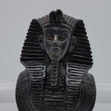 Arte: BUSTO FARAÓNICO ANTIGUO EGIPCIO EN SÍMIL DE PIEDRA CALIZA BELLAMENTE TALLADO A MANO. Lote 78370349