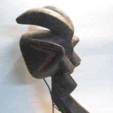 Arte: MASCARA CASCO MAMBILA SOBRE STAND.TALLA ARTE ÉTNICO AFRICANO. CAMERÚN. ÁFRICA.XXL.. Lote 78404301