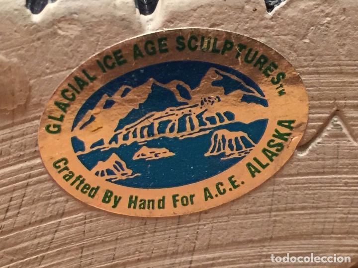 Arte: ESCULTURA ESQUIMAL DE ALASKA - CERTIFICADA A.C.E. - ARCILLA GRIS - HECHA A MANO - Foto 3 - 79935465