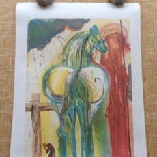 Arte: AFTER DALI LE CENTURION NUMBERED LTD ED ART PRINT, LITHOGRAPHIC RECREATION. Lote 80053101