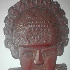 Arte: MÁSCARA EN COBRE SUDAMÉRICA VINTAGE. Lote 81321704