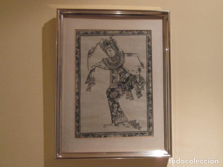 Arte: dos cuadros orijinales indonesios = bali batuan firma badung - Foto 2 - 81598148