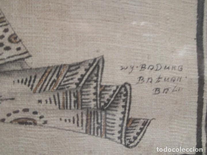 Arte: dos cuadros orijinales indonesios = bali batuan firma badung - Foto 3 - 81598148