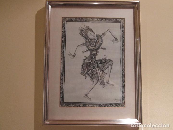 Arte: dos cuadros orijinales indonesios = bali batuan firma badung - Foto 6 - 81598148