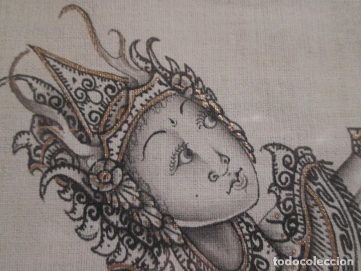 Arte: dos cuadros orijinales indonesios = bali batuan firma badung - Foto 8 - 81598148