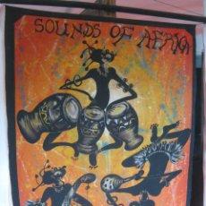 Arte: 1 METRO - GRAN PINTURA ORIGINAL FIRMADA - SOUNDS OF AFRICA - ZAMBIA. Lote 81931868