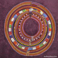 Arte: ANTIGUO COLLAR AFRICA CUENTAS DE CRISTAL , AFRICAN ANCIENT NECKLACE MAASAI BEADED. Lote 83486124
