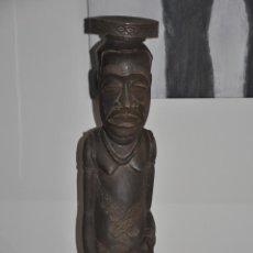 Arte: ROI KUBA DE AFRICA , FIGURA TALLADA EN MADERA , 63,5 CM. AFRICAN ROI KUBA LARGE , WOOD . Lote 83555632