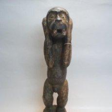 Arte: ARTE ÉTNICO AFRICANO. TALLA BAULE. MONO M'BOTUMBO. COSTA DE MARFIL ÁFRICA. 50 CMS.. Lote 85207808