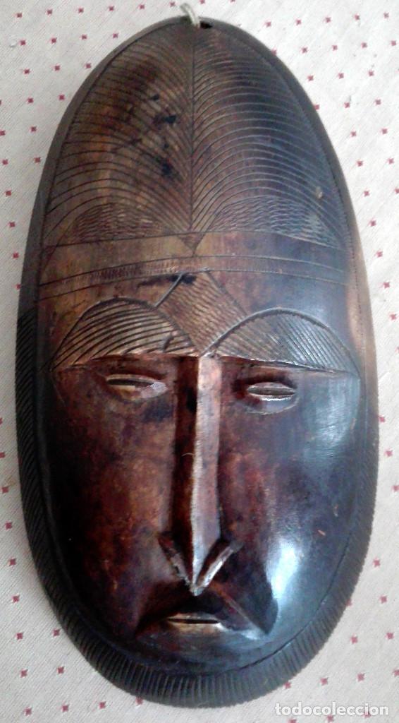 MÁSCARA AFRICANA MÁRMOL TALLADO (Arte - Étnico - África)