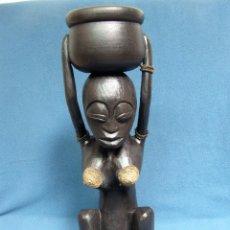 Arte: TALLA EN MADERA DE MUJER AFRICANA 55CM. Lote 85837588