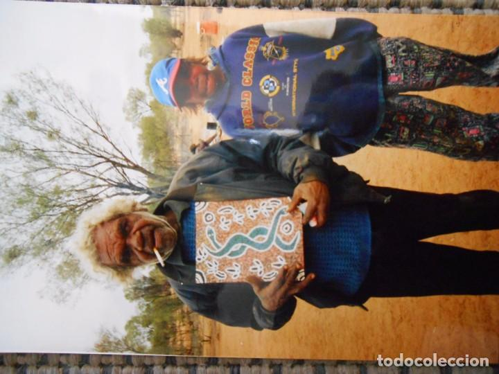 Arte: F-77 PINTURA ORIGINAL MITOLOGÍA ABORIGEN AUSTRALIA - Foto 2 - 87545972