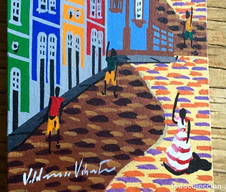 Arte: Pintura figurativa que representa paisaje urbano firmada por autor - Foto 2 - 87720780