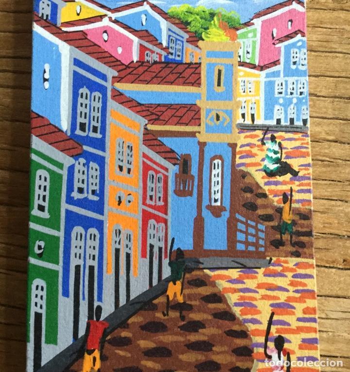 Arte: Pintura figurativa que representa paisaje urbano firmada por autor - Foto 3 - 87720780