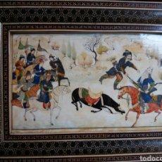 Arte: IMPRESIONANTE PINTURA ANTIGUA MONGOLIA SOBRE MARFIL CIRCA 1900. Lote 87792442
