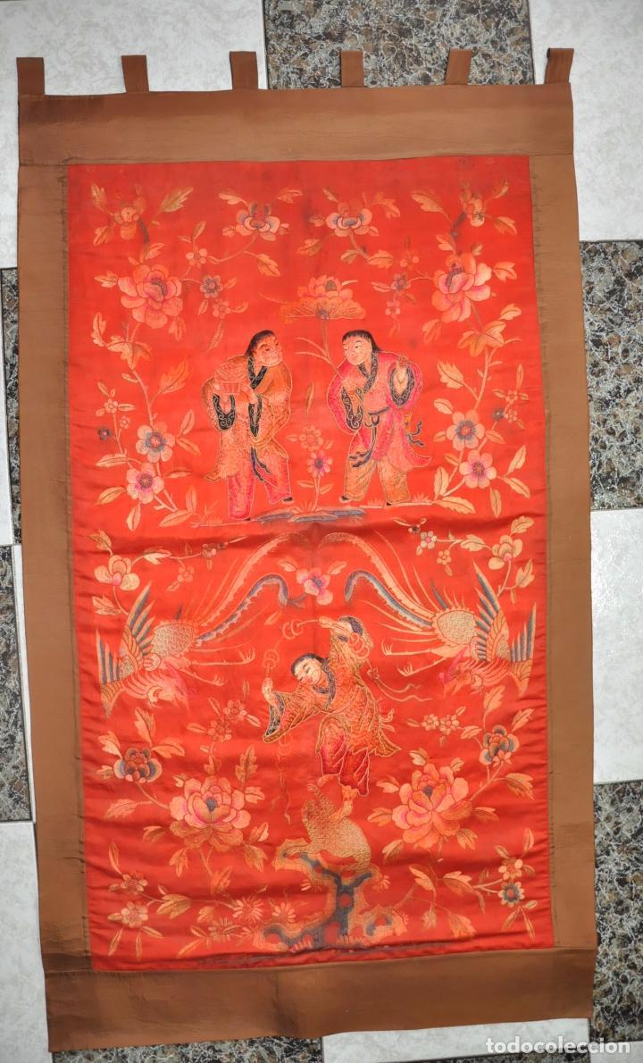 Bordado chino del xix chinese qing dynasty si comprar for Como hacer alfombras en bordado chino