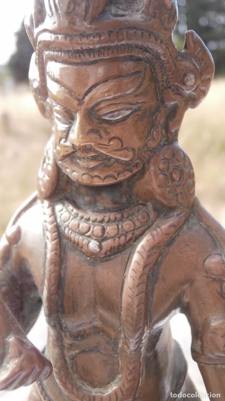 Arte: dios tibetano de siglo xix en bronce macizo - Foto 2 - 88346728