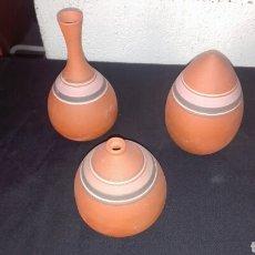 Arte: LOTE JARRONES EN BARRO ARTESANIA IBICENCA. Lote 88800030