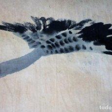 Arte: PATO VOLANDO. ACUARELA SOBRE PAPEL. CHINA. SIGLO XIX. Lote 89564180