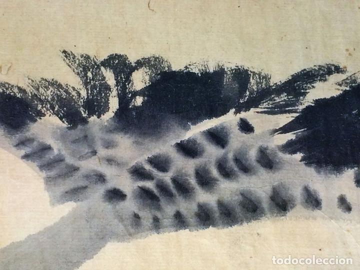 Arte: PATO VOLANDO. ACUARELA SOBRE PAPEL. CHINA. SIGLO XIX - Foto 4 - 89564180