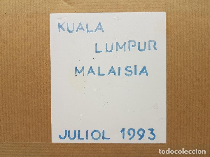 Arte: Precioso cuadro hecho artesanalmente en Kuala Lumpur Malasia elefante de lentejuelas, chakiras... - Foto 8 - 89625328