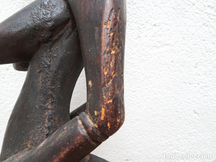 Arte: ESCULTURA SENOUFO ARTE AFRICANO MADERA TALLADA 74 cm - Foto 5 - 90645770