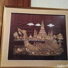 Arte: CUADRO DE UNA PINTURA SOBRE SEDA DE TAILANDIA.. Lote 91252355