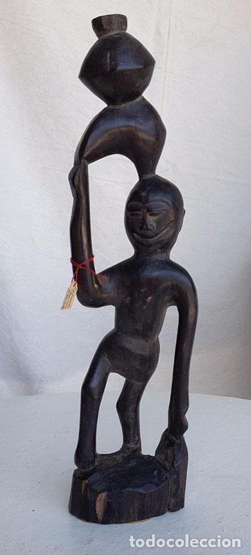 Arte: FIGURA ARTE ÉTNICO/AFRICANO EN MADERA TALLADA A MANO - Foto 4 - 91673090